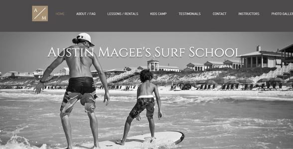 Screenshot of Austin McGee's homepage