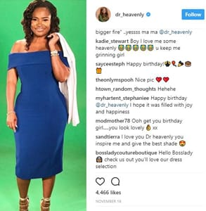 Screenshot from Dr. Heavenly's Instagram page
