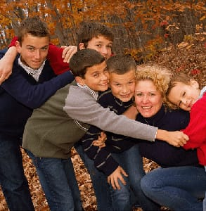 Photo of Kerri Lynn Bishop with her five sons