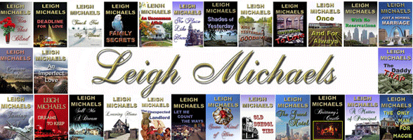 Screenshot from Leigh Michaels' website