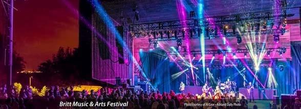 Photo of a concert at Britt Music & Arts Festival