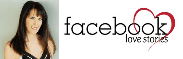 Julie Spira's headshot and the Facebook Love Stories logo