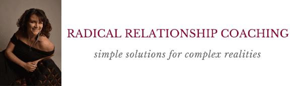Mel Mariposa's headshot and the Radical Relationship logo and slogan