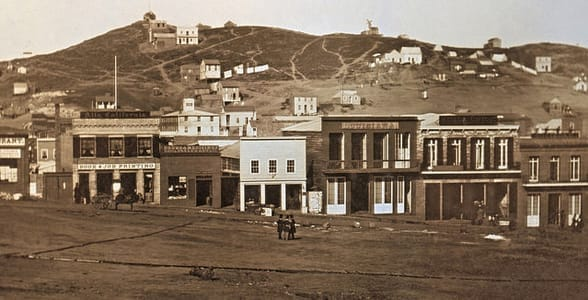 Photo of San Francisco in 1851