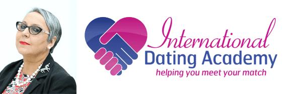 Cynthia Spillman's headshot and the International Dating Academy logo