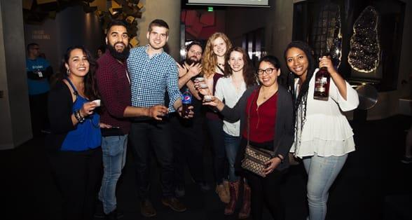 Photo of Perot Museum patrons enjoying Museum Night