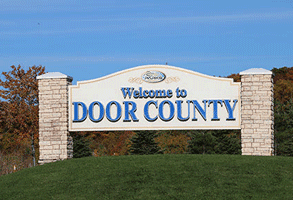 Photo of the Welcome to Door County sign