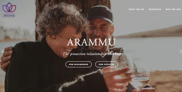 Screenshot from the Arammu website