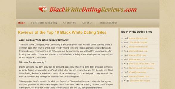 Screenshot of BlackWhiteDatingReviews.com