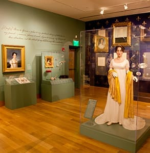 Photo of the Maryland Historical Society's exhibit on Elizabeth Patterson Bonaparte