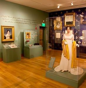 Photo of the Maryland Historical Society's exhibit on Elizabeth Patterson Bonaparte