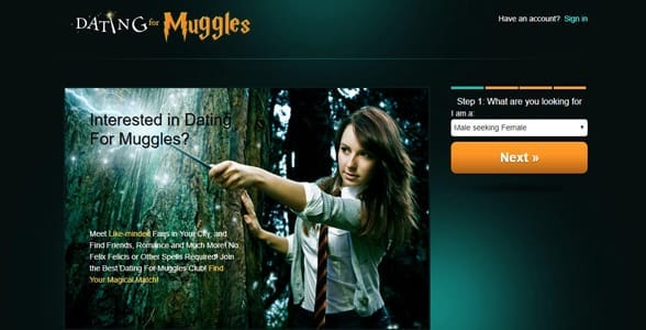 Screenshot of Dating for Muggles