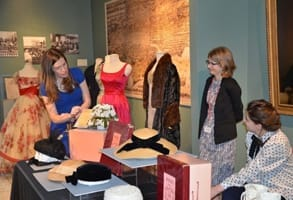Photo of a costume collection exhibit at the museum