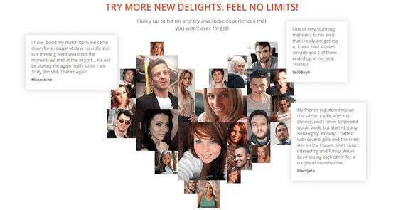 Screenshot of BeNaughty success stories