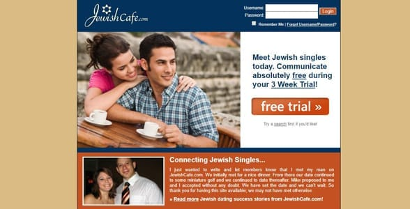 Screenshot of JewishCafe.com