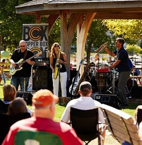 Photo of a live music performance in Door County