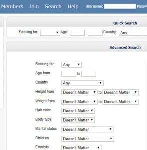 Screenshot of Love Awake's search page