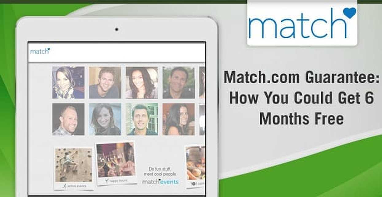 Match.com Guarantee — How You Could Get 6 Months Free