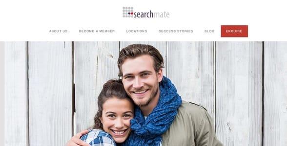 Screenshot of Searchmate's homepage