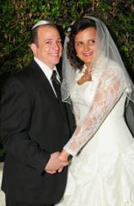 Photo of Marc and Angela, JewishCafe.com users who got married