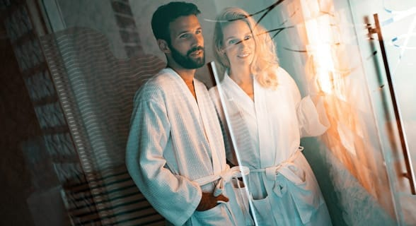 Photo of a couple at a spa