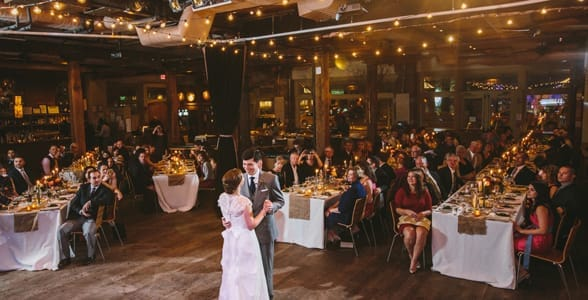 Photo of a wedding at NYC's City Winery