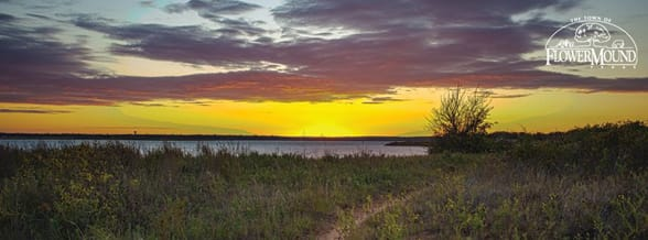 Photo of a sunset over Lake Grapevine