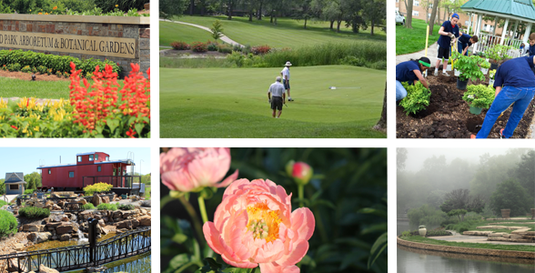 Collage of Overland Park's outdoor spaces