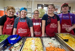 Photo of volunteers at the Bowery Mission
