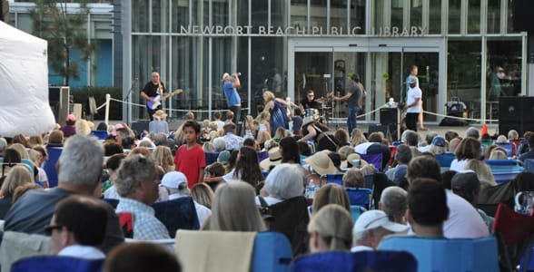 Photo of a concert at the Newport Beach Public Library