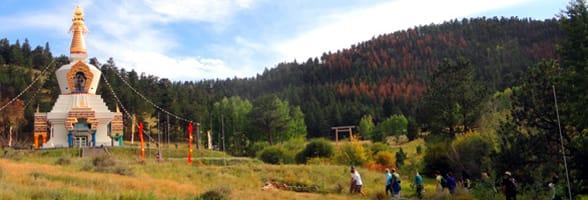 Photo of the Great Stupa at the Shambhala Mountain Center