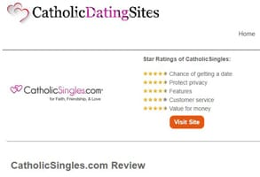 Screenshot of a CatholicDatingSites.org review