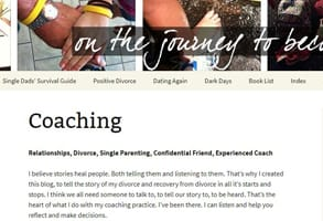 Screenshot of Whole Parent Book's coaching services
