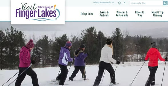 Photo of skiers at the Finger Lakes