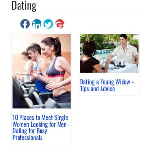 Screenshot of Futurescopes.com's dating articles