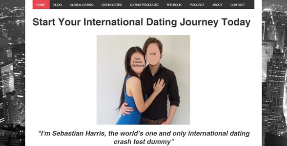 Screenshot of the Global Seducer website