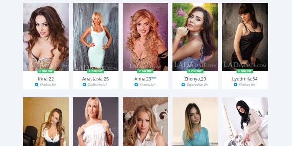 Screenshot of LadaDate members