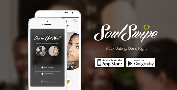 Screenshot of SoulSwipe's landing page