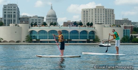 Photo of stand-up paddleboarding in Madison