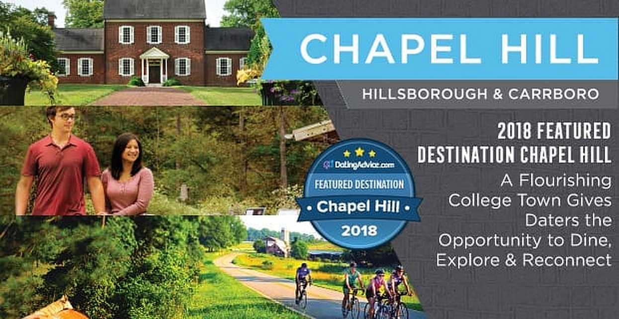 2018 Featured Destination Chapel Hill — A Flourishing College Town Gives Daters the Opportunity to Dine, Explore & Reconnect