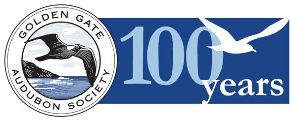 Golden Gate Audubon Society 100 Years logo