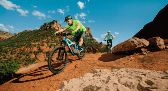 Photo of mountain bikers in Sedona