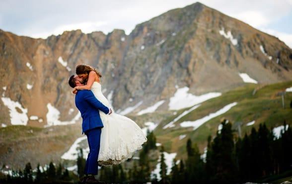 Photo of an A-Basin wedding