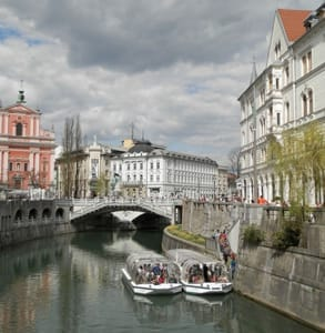 Photo of a boat tour on the Ljubljanica River