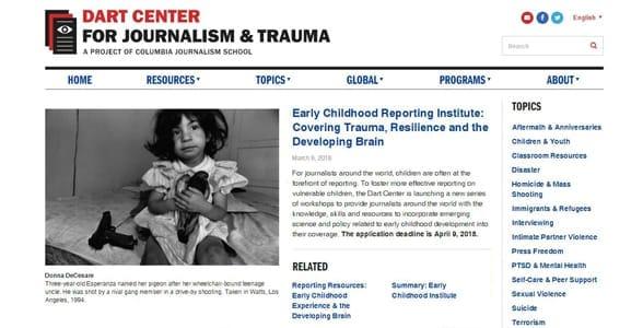 Screenshot of the Dart Center's website
