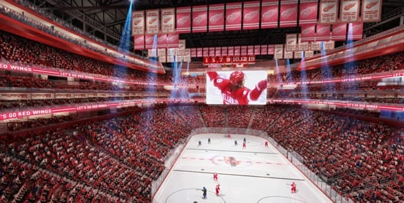 Photo of a Detroit Red Wings game