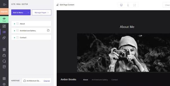 Screenshot of Format's website editor