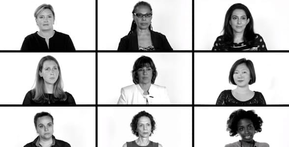 Photo of the women who participated in the Dart Center's Let's Talk video