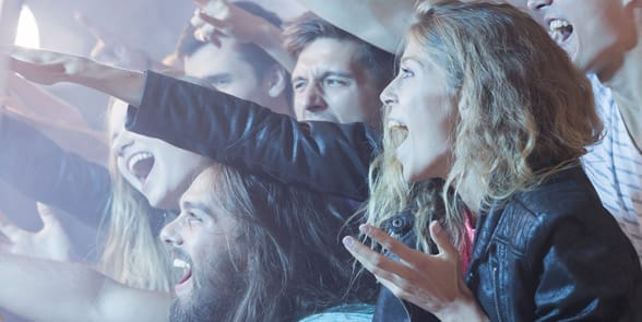 Photo of a people at a concert