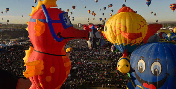 Photo of the Mass Ascension at the Balloon Fiesta